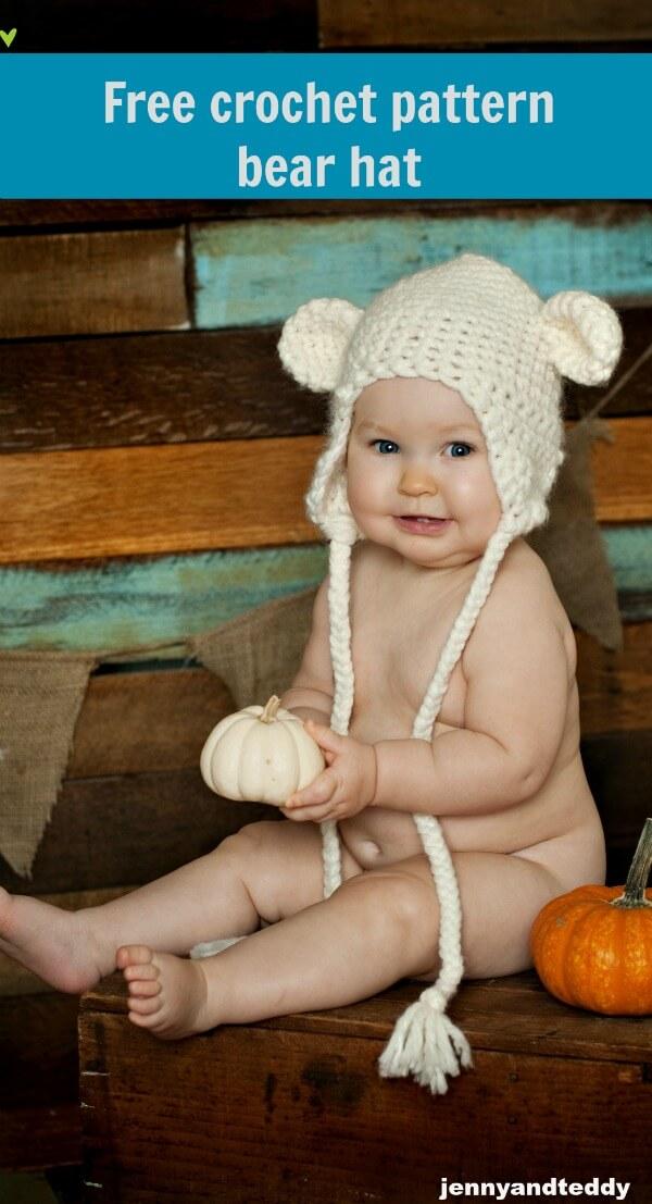 bear hat free crochet pattern
