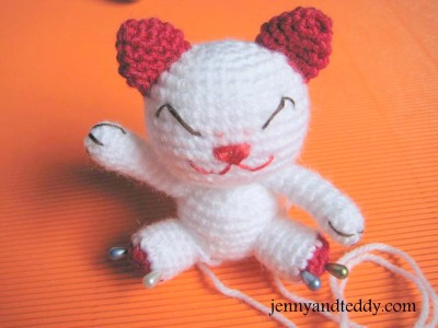Lucky cat crochet amigurumi free pattern