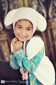 crochet easter bunny or lamb hat free pattern