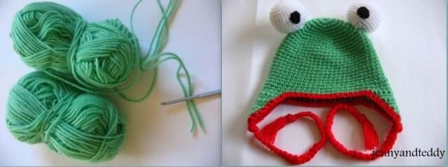 yarn held double.