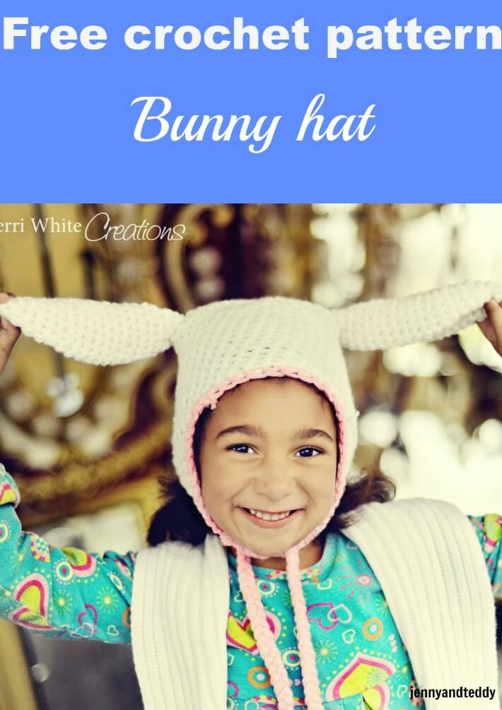 bunny crochet hat free pattern by jennyandteddy