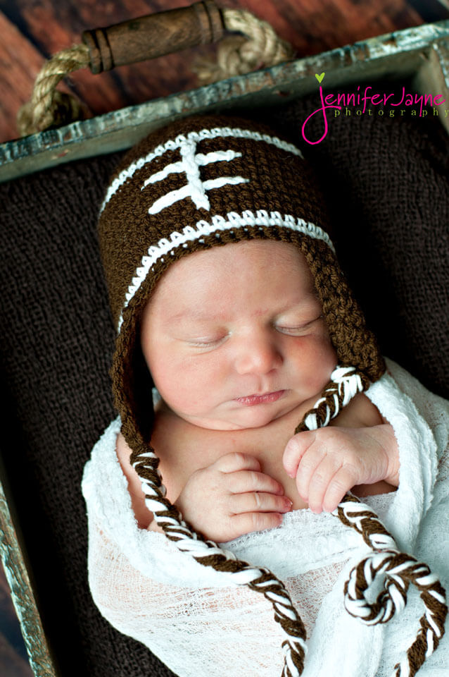 Baby Crochet Football Hat Free Pattern