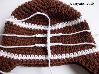 Baby Crochet Football Hat Free Pattern