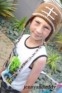 football crochet hat for child size