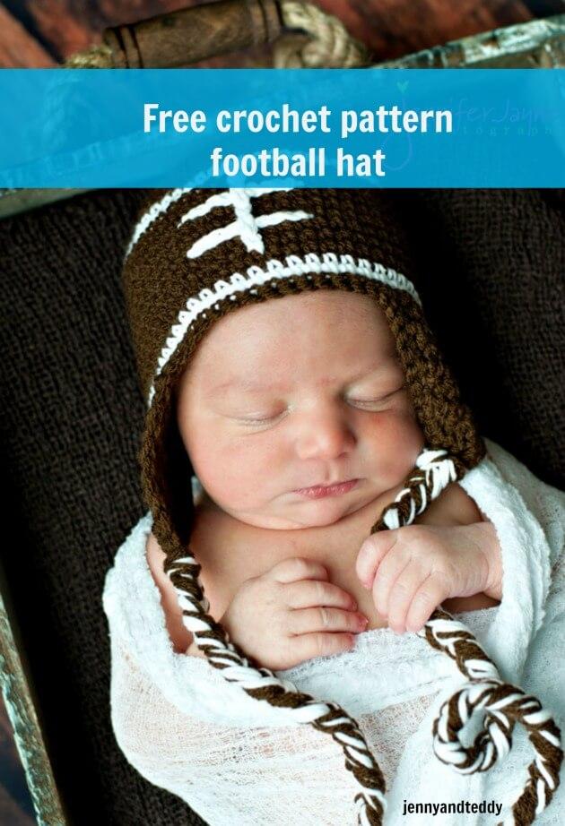 footballl hat free crochet pattern