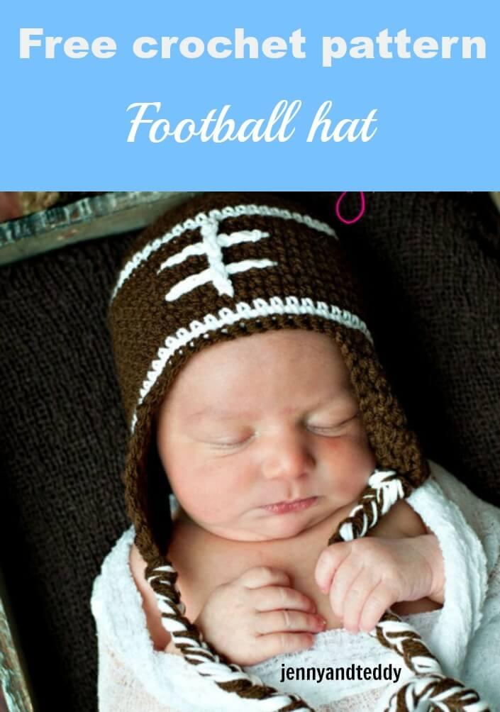 free crochet pattern football hat by jennyandteddy 163f45d8b