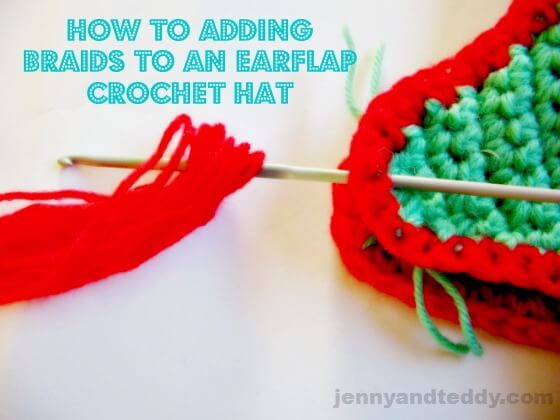 How to add braids to an earflaps crochet hat 0d8ed791f90