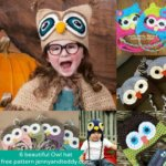 6+ beautiful crochet Owl hat free pattens