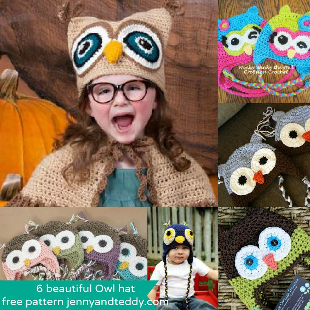 Free Crochet Pattern Owl Family : 6 beautiful crochet Owl hat free pattens