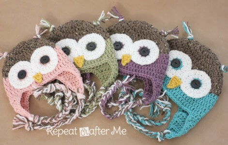 2ae43c1726c Make this cute Owl Hat with Sarah at Repeat Crafter Me. Her ...