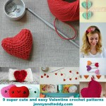Mini tutorial round up: 9 Super Easy Valentines crochet patterns