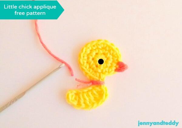 chicken , duck crochet applique free patterns