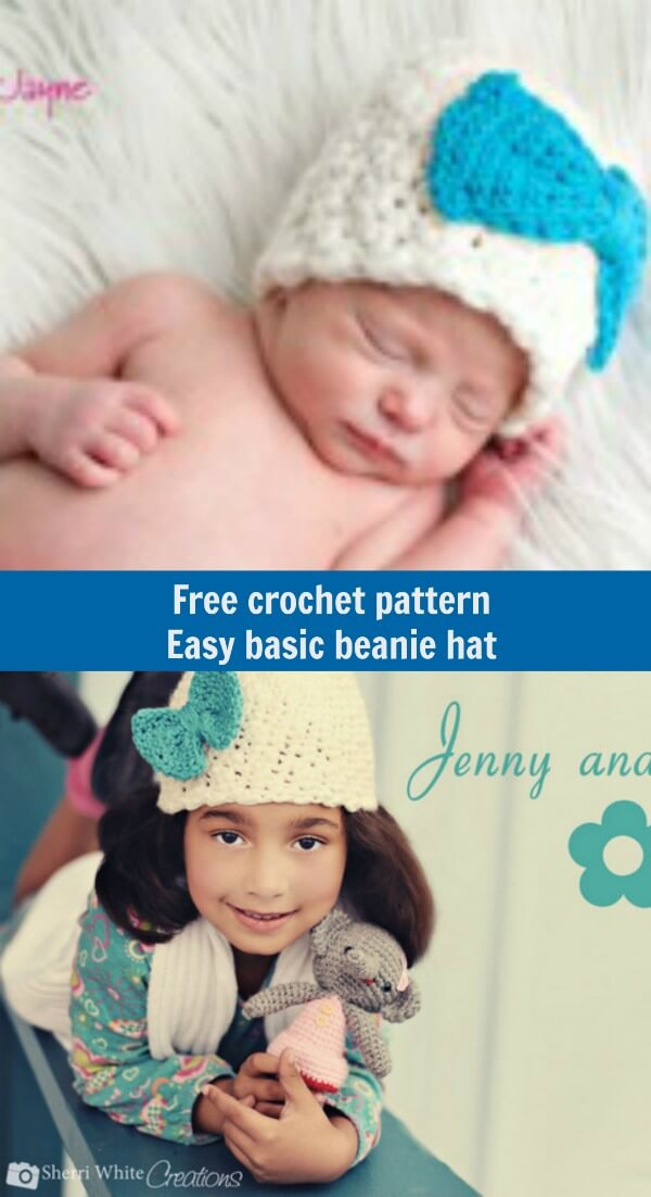easy freebasic beanie crochet hat pattern