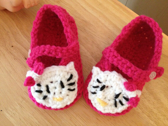 Free Crochet Pattern For Hello Kitty Baby Shoes Burak For
