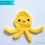 Baby octopus crochet applique free pattern