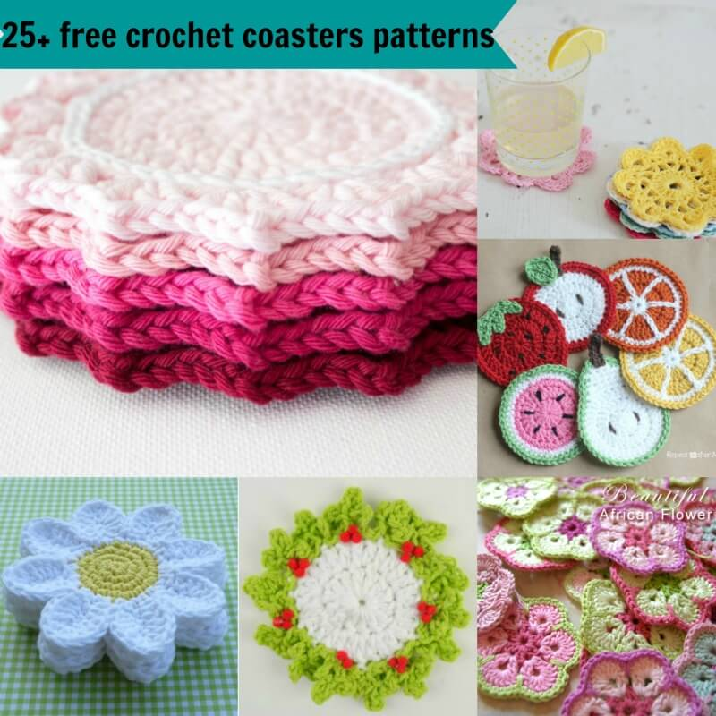 60 Free Easy Crochet Coasters Patterns Extraordinary Crochet Coaster Pattern