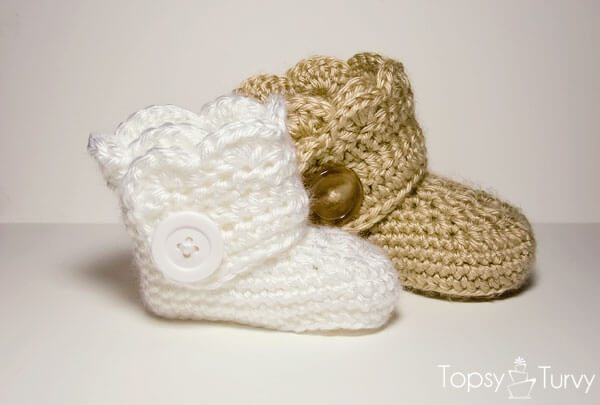 Baby Crochet : Crochet Baby Booties - Free Patterns Easy Crochet Blog