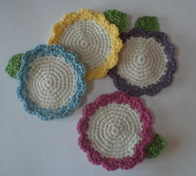 Nautical Crochet Coasters - Free #Crochet Pattern on Moogly!