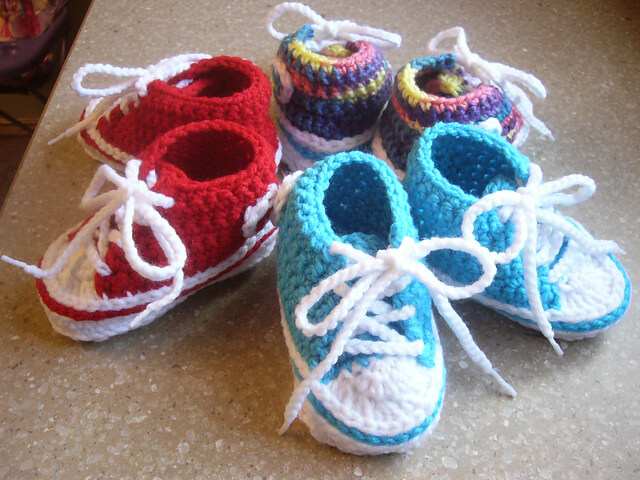 Free Knitting Pattern For Baby Tennis Shoes : 20 free crochet baby booties patterns