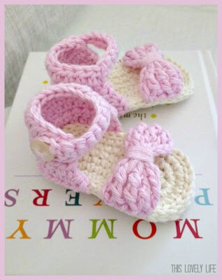 Free knitting pattern for baby barefoot sandals