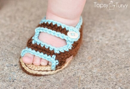 60Free Crochet Baby Sandals And Barefoot Patterns Gorgeous Crochet Baby Sandals Pattern
