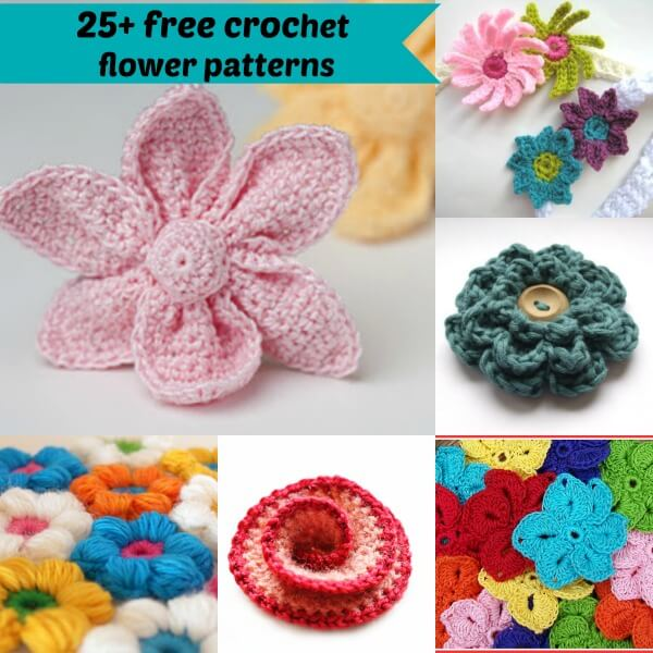 Simple Crochet Flower Free Pattern : 25+ free easy crochet flowers patterns