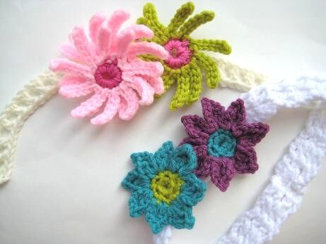 Crocheted Headband with Flower - Celestial's Creations
