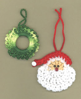 Santa Ornament Crochet Pattern from Kreinik | FaveCrafts.com