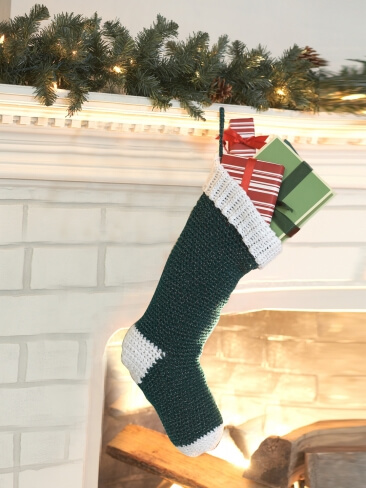 Christmas stocking - Learn how to crochet
