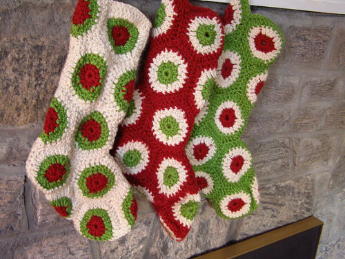 patterns library polka dot christmas stocking if you love christmas ...