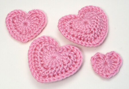 Crochet A Heart : 15. http://www.planetjune.com/blog/free-crochet-patterns/love-hearts/