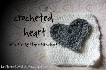 Large crochet heart applique craftaholics anonymous how to
