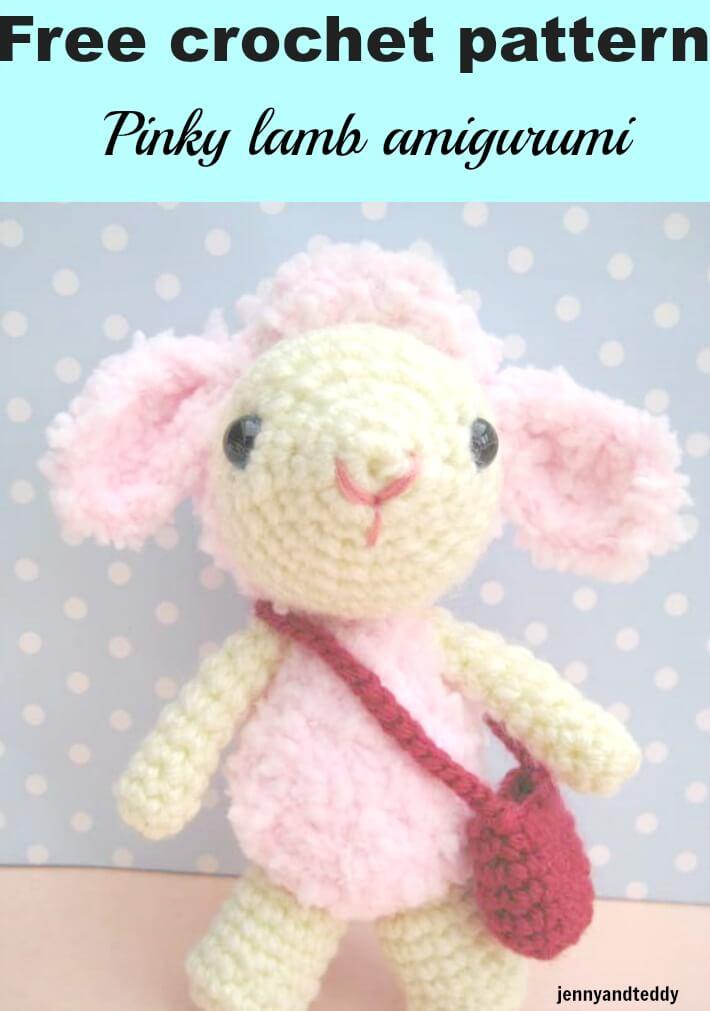 pinky lamb amigurumi free crochet pattern by jennyandteddy