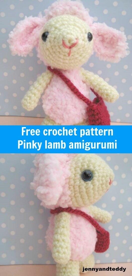 pinky lamb free amigurumi crochet pattern