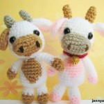 Lolly baby cow amigurumi-free pattern