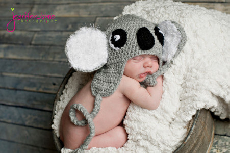 Koala crochet hat pattern