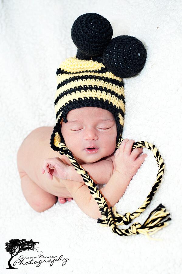 bee crochet hat free pattern