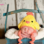 Easter chicken crochet hat-free pattern