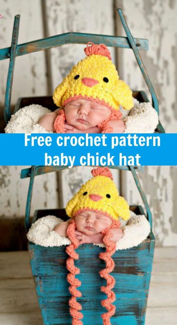 Easter Chicken Crochet Hat Free Pattern