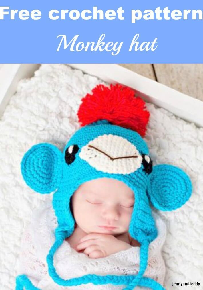 little monkey crochet hat free pattern by jennyandteddy