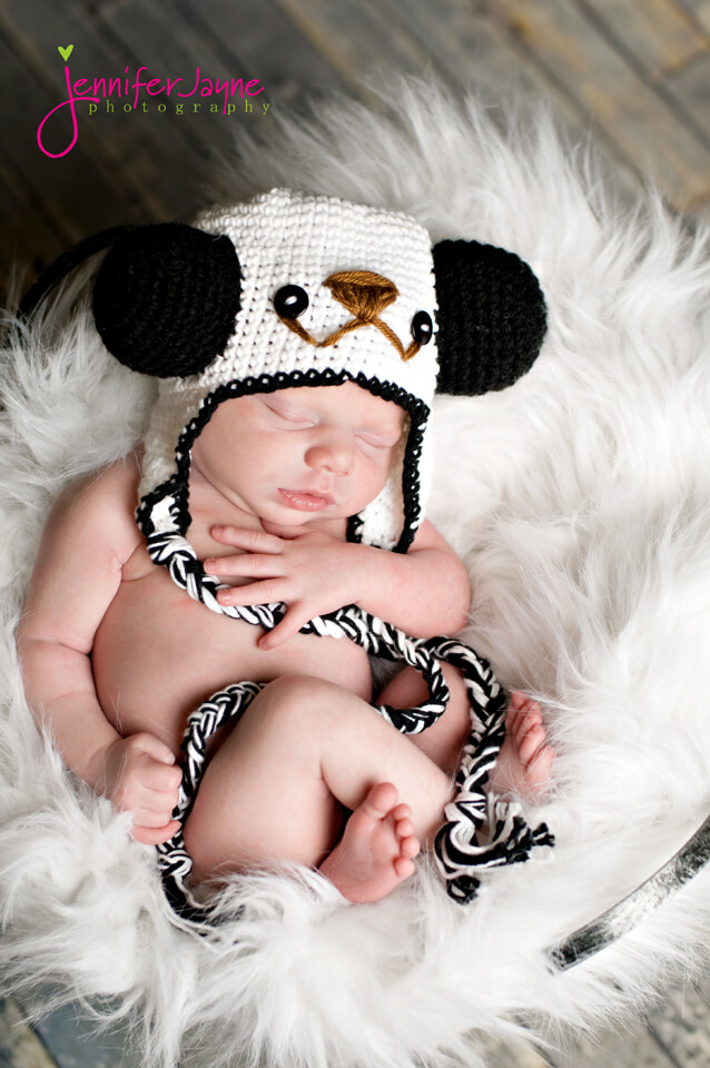 panda crochet hat pattern