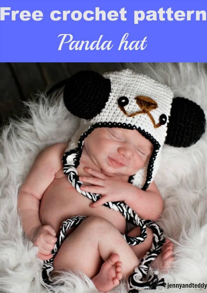 panda hat free crochet pattern by jennyandteddy