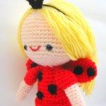 ladybug girl amigurumi free pattern