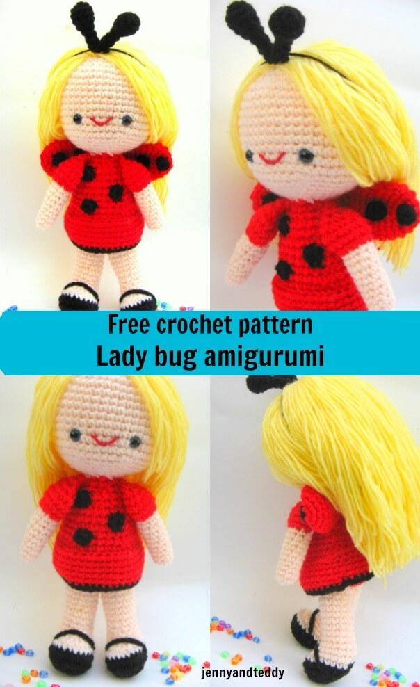 free amigurumi crochet pattern ladybug