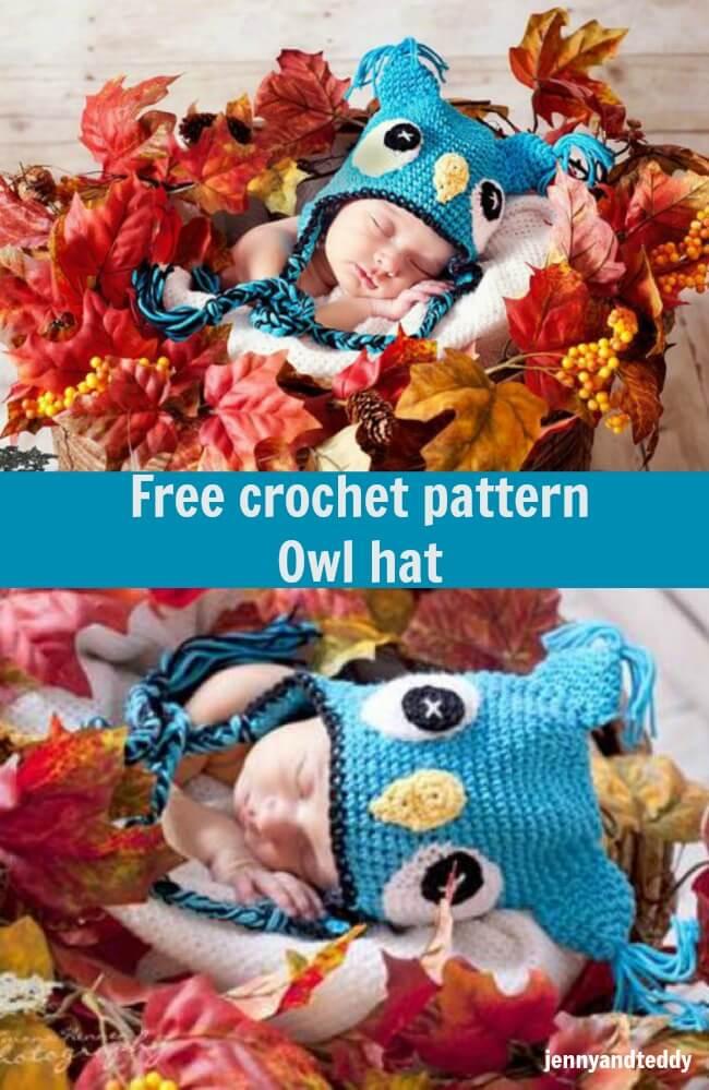 free crochet pattern owl hat