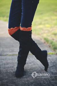 1.free crochet boot cuff pattern