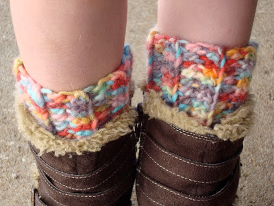 10. free crochet boot cuff child side