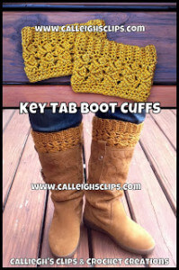 14.crochet boot cuff tutorial