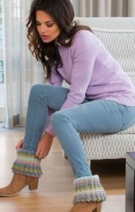23.free boot cuff topper crochet pattern