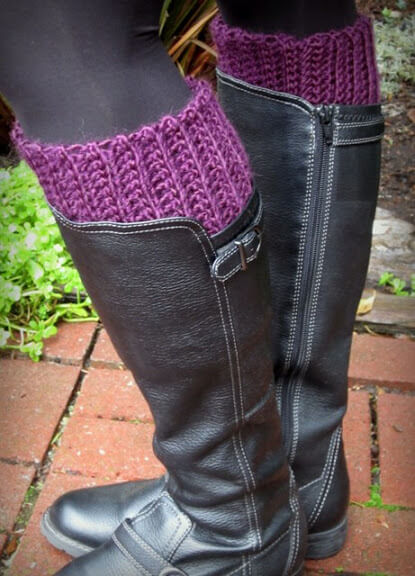 24. crochet tutorial boot inserts a